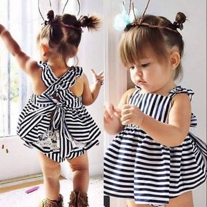 Other - COMING SOON - striped baby girl tie back romper